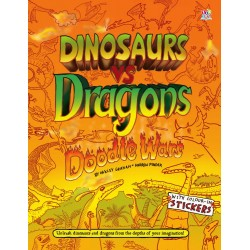 Dinosaurs Vs Dragons Doodle...