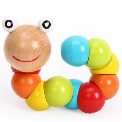 Цветно дървено червейче
